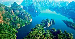 Секретное озеро. В национальном парк Кхао Сок.