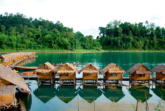 Национальный парк Кхао Сок. Озеро Cheow Lan.