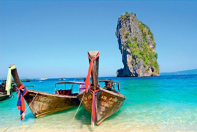 Провинция Krabi. Прогулка на длиннохвостой лодке.