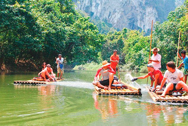 Национальный парк Као Сок. Сплав по реке на бамбуковых плотах